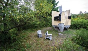 Мини-дом, построенный за 2 недели с помощью 3D-принтера и автомобильного робота