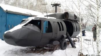 Челябинские страйкболисты обзавелись макетом вертолета Sikorsky UH-60 Black Hawk. Фюзеляж сварили из металла, а кабину отделали