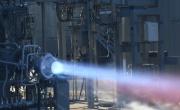 NASA fire-testing its 3D printed engine components. Photo via NASA.