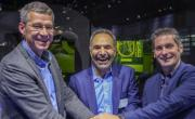 Michel Delanaye, co-founder and CEO, GeonX, Mohammad Ehteshami, Vice President and General Manager, GE Additive, Laurent D'Alvis