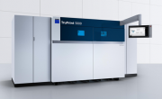 The TruPrint 5000 is built around a multi-laser principle with three scanner-guided, 500-watt Trumpf fibre lasers